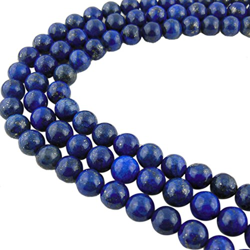 8MM Lapis Lazuli Blue Gemstone Gem Round Loose Stone Beads for Jewelry Making&DIY&Design - Stone Blue Beads