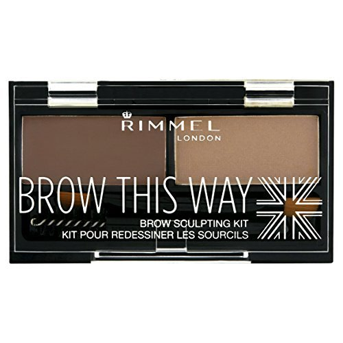 Kit 002 (Rimmel London - Brow This Way Brow Sculpting Kit - 002 Medium Brown by Rimmel London)