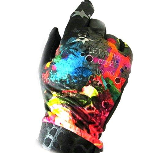 Gants créateur 'Rêveuse' noir multicolore