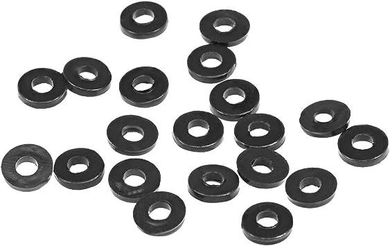 20 mm Innendurchmesser 2,3 mm dick 30 St/ück 30 mm Au/ßendurchmesser Sourcing Map Gummi-Unterlegscheiben