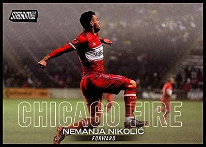 39d6fa23bc7 Amazon.com: 2018 Stadium Club MLS #58 Nemanja Nikolic Chicago Fire ...
