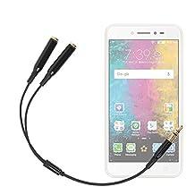 Adaptateur double pour écouteurs stéréo Jack 3.5 mm pour Smartphone LG G6, Asus Zenfone Live (ZB501KL) et Blackberry Mercury DTEK70 - DURAGADGET