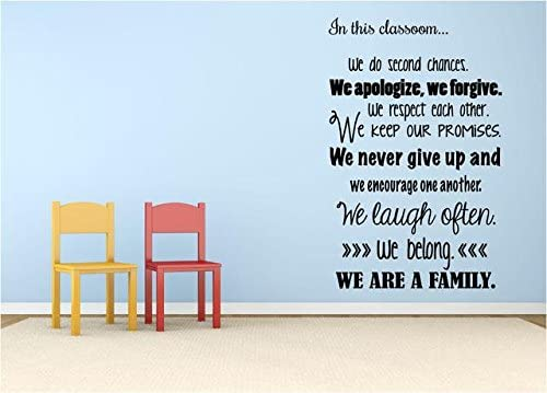 """In This Classroom..Wall QuotesVinyl wall Teaching Decor ED5 14/""""x20/"""""""