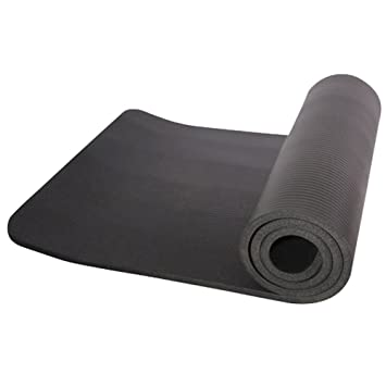 Amazon.com : Hec Trac Yoga Mat Thickened NBR Pure Color Anti ...