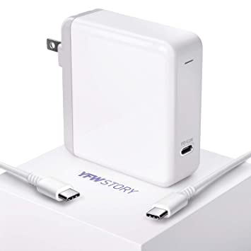 Amazon.com: YFWstory - Adaptador de alimentación USB C, 61 W ...