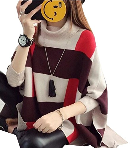 1 Knit High Women's M Winter Sweater amp;W Collar Cloak Poncho Cape amp;S 788Pq