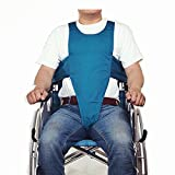 Wheelchair Seat Belt for Elderly Patient Restraints Straps Patients Cares Safety Harness Chair Waist Lap Strap Soft Cushion Belt Thigh Fixed Restraint Band & Length Adjustable