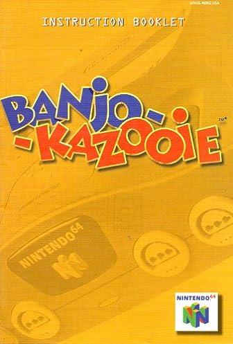 banjo kazooie n64 instruction booklet nintendo 64 manual only rh amazon com Nintendo Characters Nintendo Consoles