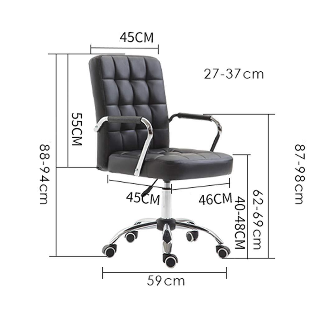 Kontorsstol mode hem konferensstol ledig fåtölj enkel chef stol kontor svängbar stol lyftbar datorstol lindra trötthet Armégrönt Rosa