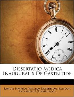 Book Dissertatio Medica Inauguralis De Gastritide