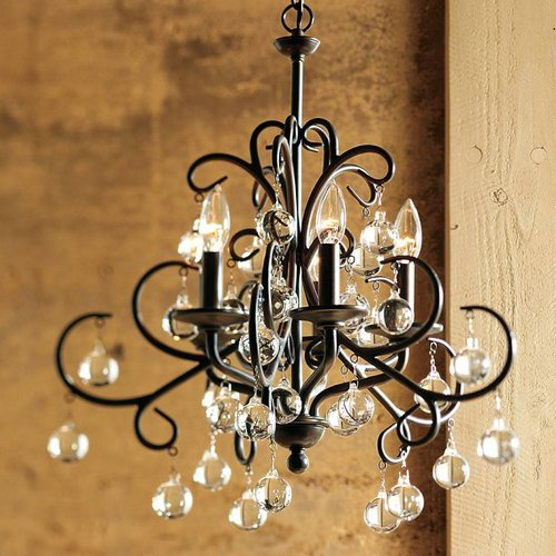 LightInTheBox Traditional Home Furnishing decorative Crystal 5 Lights Chandelier Painting Finish for Dining Room, Bedroom, Living Room
