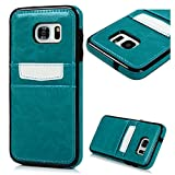S7 Edge Case, YOKIRIN Slim Armor Case Card Holder Slim Fit Dual Layer Protective with Card Slot Holder Advanced Shock Absorption Protective Wallet Case Cover for Samsung Galaxy S7 Edge - Blue