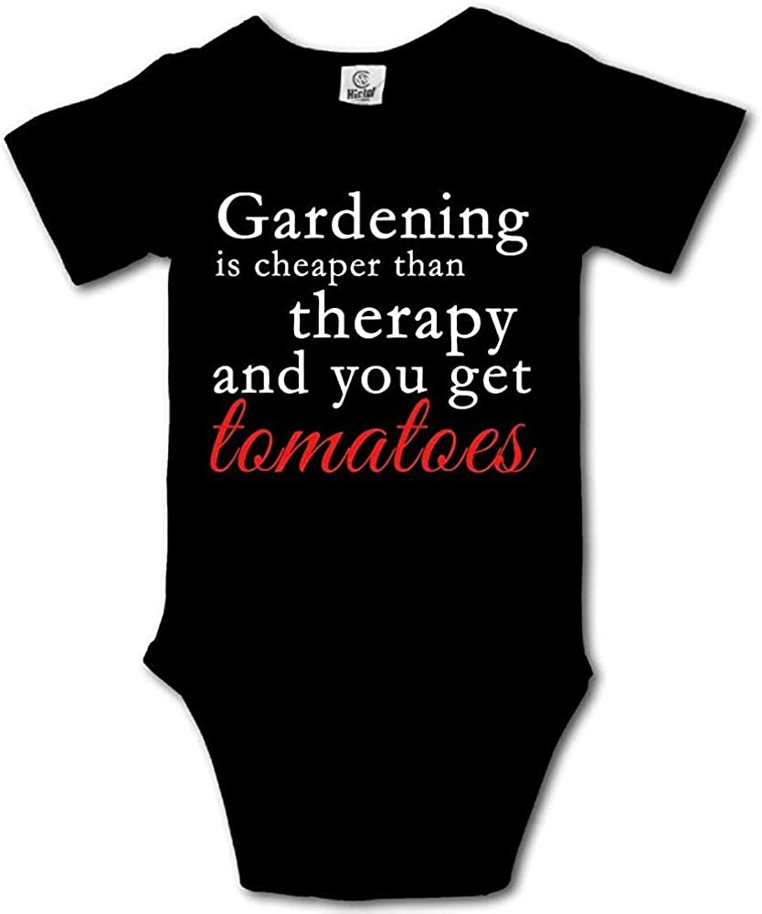 TYLERHUMP Baby Bodysuit Gardening Cheaper Than Therapy Short Sleeves Triangle Romper Bodysuit Outfits Infant Toddler Clothes