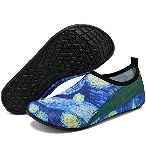 Aqua Abstract Cloud Beach Drying Pool Yoga VIFUUR Men Water Shoes Women Quick Shoes Unisex for Exercise wtnqaC6
