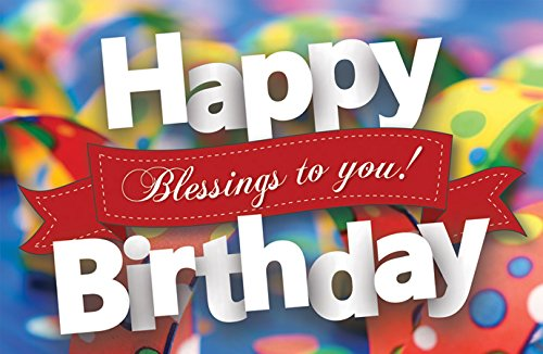 Postcards - Happy Birthday - All Ages - Happy Birthday Blessings To You! (Pkg. of 25) ... ()