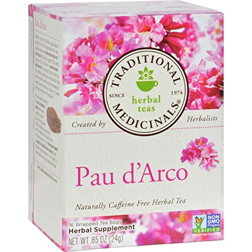 - Traditional Medicinals PAU D'arco Caffeine Free Herbal Tea Bags, 16 Bags