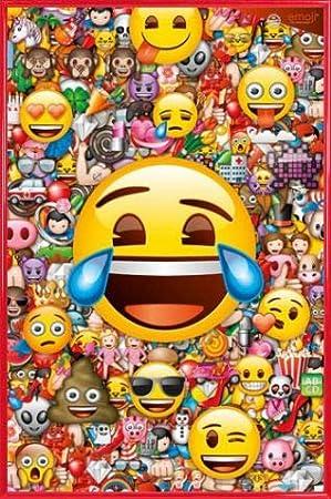 91 x 61cm - Emoji 1art1 Smileys Poster et Cadre MDF