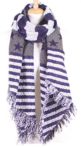 S-779-31 Stars and Stripes Wool Scarf - - Sunglasses Infinity