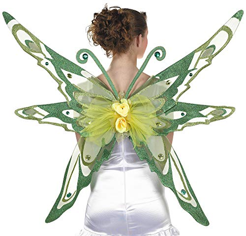 - amscan Woodland Fairy Wings Halloween Costume Accessories for Adults, One Size