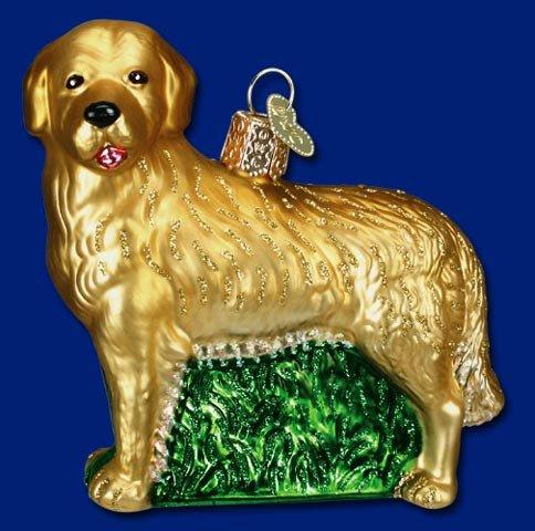 Retriever Glass Ornament - GOLDEN RETRIEVER DOG Ornament Old World Christmas NEW