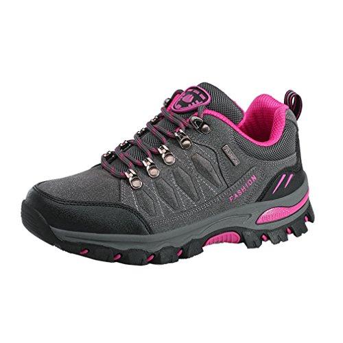 a Que Rojo De Suben 7 Rosa Colores Través Suben Impermeables Gris Asiáticos Que Los Campo 44 38 Zapatos Zapatos Adultos Unisex Antideslizantes FdtqF