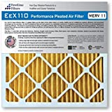 FirstLine Filters 20x22x1 MERV 11 Pleated AC Furnance Air Filter, Box of 3