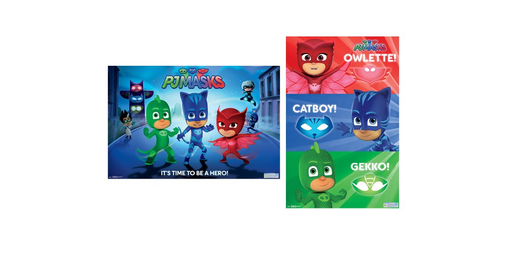 Amazon.com: Trends International Wall Poster PJ Masks Collectors Bundle, 22.375