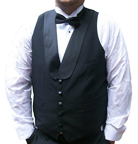 Mens Satin Shawl Collar Tuxedo Vest - Catering, Western, Bartender, Waiter (42 ()