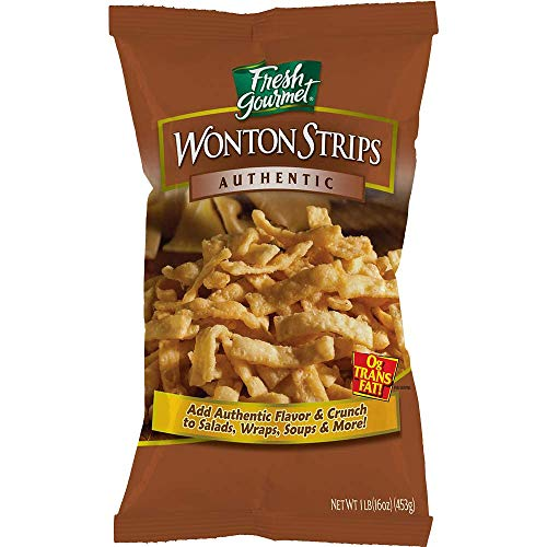 Fresh Gourmet Wonton Strips, Authentic, 1 Pound