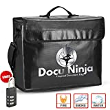 Waterproof Fireproof Document Bags - Fire Proof Water Proof Safe Document Holder   Lockable Fireproof Safety Boxes for Home   Waterproof Storage Safety for Files, Money, Passport, Jewelery, Valuables