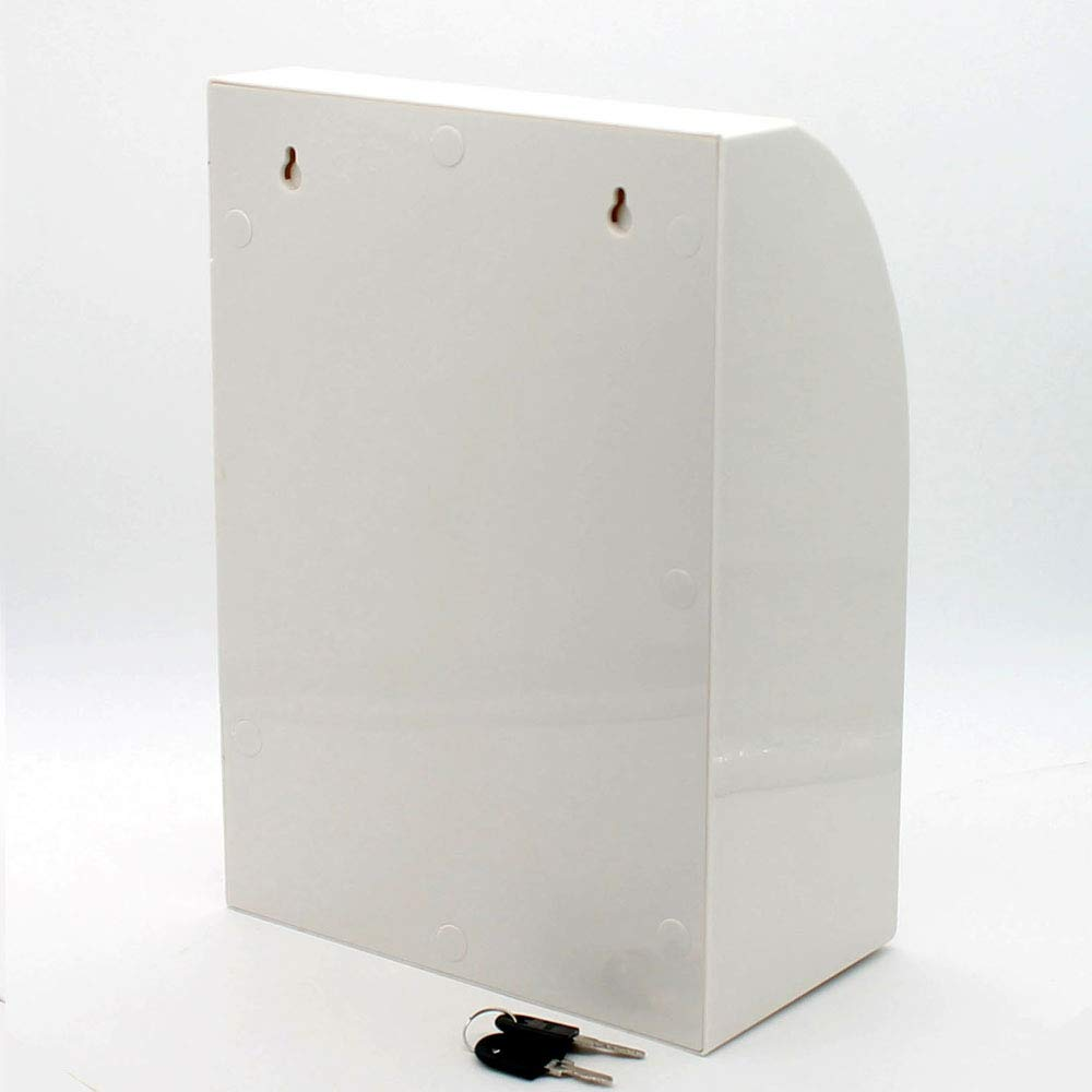 Suggestion Box,Donation Box,Mail Box,Comment Box Locking and Pen for Wall or Countertop,6 Replaceable Tags