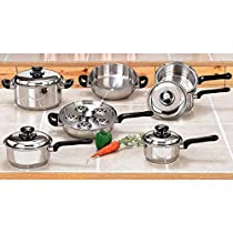 B&F Systems Ltd. 17 Piece Stainless Steel Cookware Set