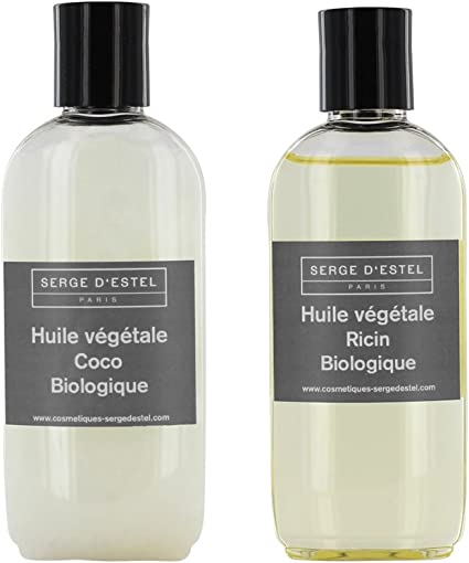 Aceite de Coco Bio 100 ml, aceite de ricino Bio 100 ml. Cuidado 100% Bio Cabello frisés, secas, piel seca.: Amazon.es: Belleza
