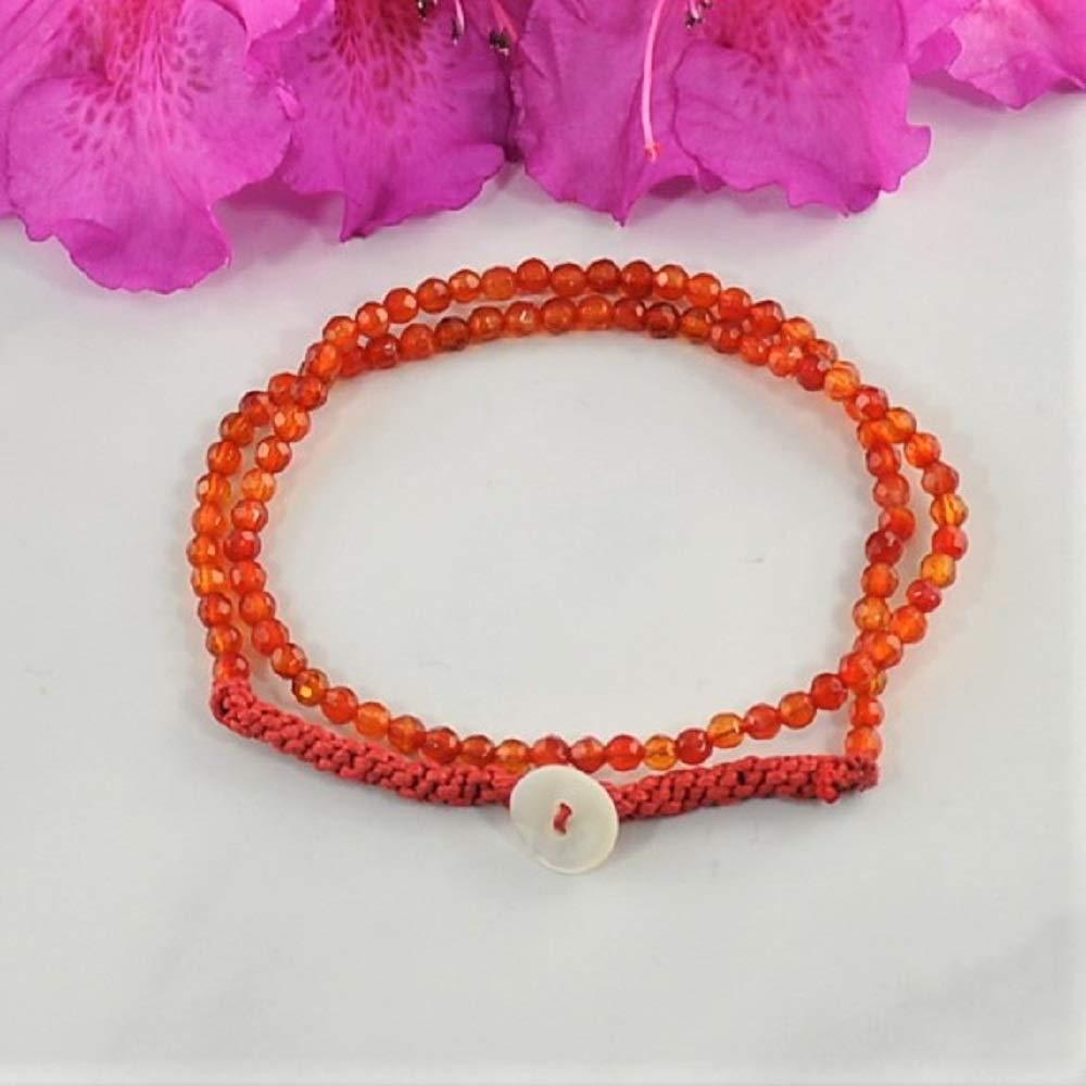 Sivalya CREATIVITY Carnelian Gemstone Beads Necklace Wrap Bracelet