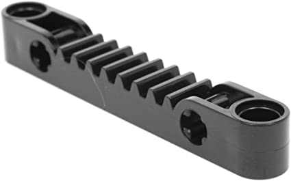 LEGO LOT OF 10 BLACK 1 X 13 TECHNIC GEAR RACKS WITH AXLE AND PIN HOLES PIECES