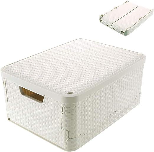 3 Piezas Multifuncional Muebles Organizadores Almacenamiento Plástico Cesto Plegable Apilables Cajas Almacenaje Caja Cesta Ordenación Portátil Organizador Del Coche Envase,L: Amazon.es: Hogar