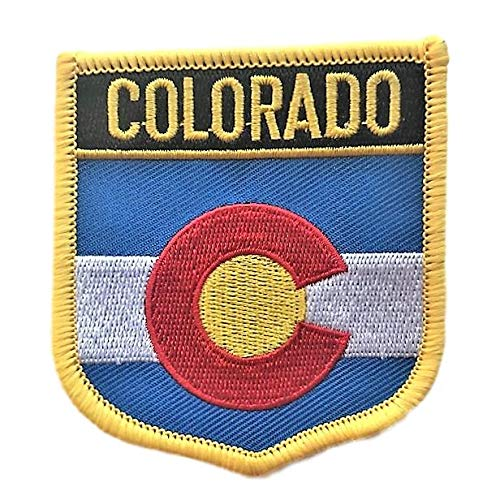 Colorado (CO) Flag Badge Iron/Sew-On Patch