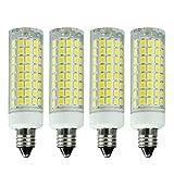 75 watt ceiling fan bulbs - E11 LED Bulb Dimmable, 7W (75W-100W Halogen Bulbs Equivalent), Mini Candelabra Base, AC110V120V 130V, 6000K Daylight White for Chandeliers Ceiling Fan Light, Pack of 4