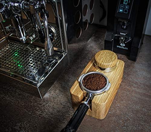 avec de bons accessoires Barista pour ma/îtriser le chemin vers un expresso optimal Clara Coffee Station de tamperstation en bois 51-58 mm Tamper en beau bois et acier inoxydable pour porte-filtre