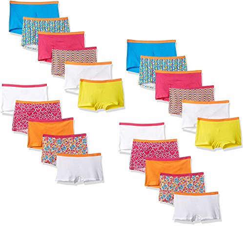 Fruit Of The Loom Little Girls' Assorted Boyshort (Assorted 22-Pack, 12) ()