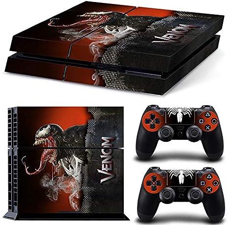 46 North Design Ps4 Playstation 4 Pegatinas De La Consola Venom + 2 Pegatinas Del Controlador: Amazon.es: Videojuegos