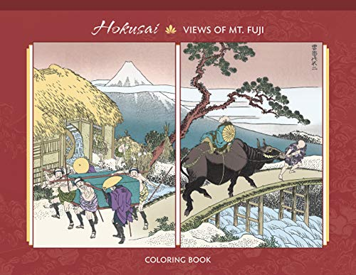 Hokusai: Views of Mt. Fuji Coloring Book ()