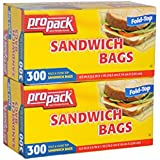 Propack Sandwich Bags, 300 Count (Pack of 2)
