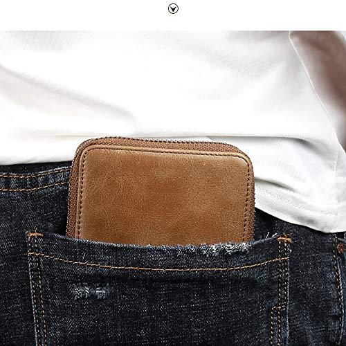 À Homme Kt Deux Portefeuille Zippée Yellow Poche Classique Conception brown Bifold Porte Doux Plis Monnaie AqU5BIw5