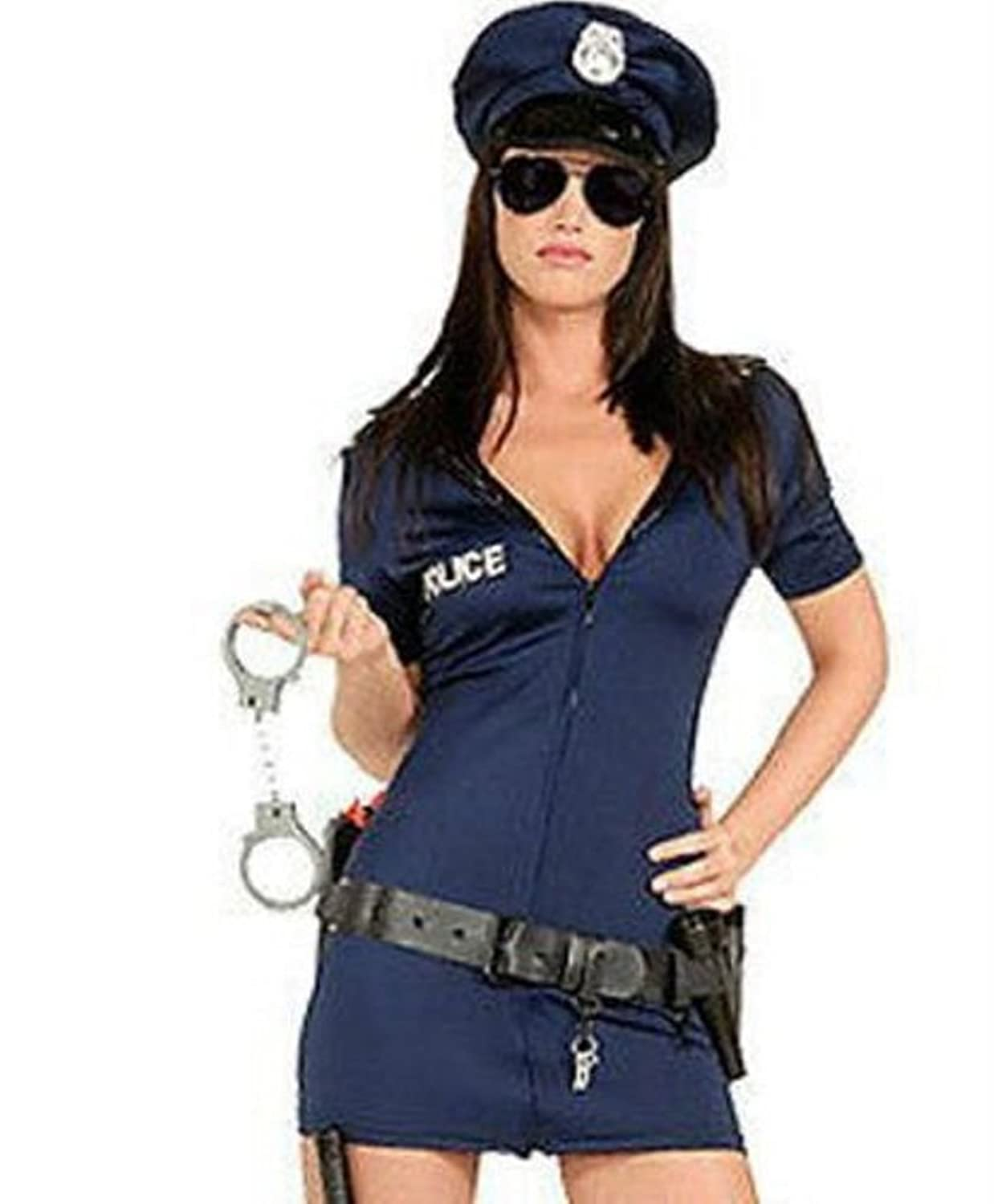 Dress up xl games - Ladies Sexy Police Officer Cop Uniform Adult Fancy Dress Costume Halloween Hen Party Outfit With Belt