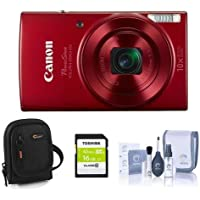 Canon PowerShot ELPH 190 is 20MP Digital Camera, Red -...
