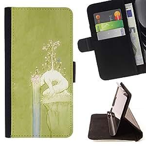 For LG G4 Stylus / G Stylo / LS770 H635 H630D H631 MS631 H635 H540 H630D H542 Case , Primavera Chica Naturaleza Significado Profundo- la tarjeta de Crédito Slots PU Funda de cuero Monedero caso cubierta de piel