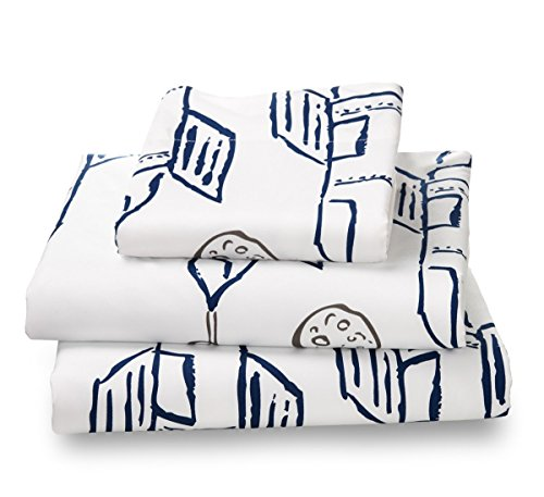 Twin Rocket/Planes Print Bed Sheet Set for Kids Bedding