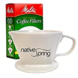 Native Spring Ceramic Coffee Pour Over Dripper Single Serve Gift...