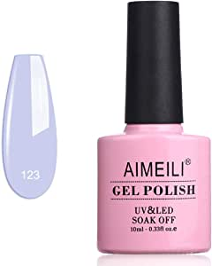AIMEILI Soak Off UV LED Gel Nail Polish - Ceratostigma Plumbaginoides (123) 10ml